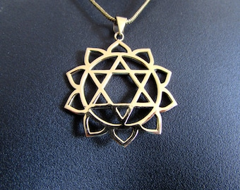 Star Of David Circle Pendant - Necklace Spiritual jewellery Judaica Jewellery Handmade Free UK delivery BP2