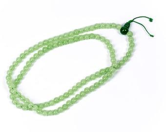 Mala Meditation Beads Green Onyx 108 Mala beads Yoga Jewellery Prayer Beads Buddhist Free UK Delivery + Gift Bag