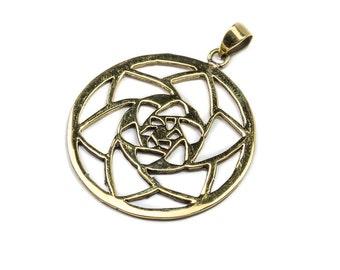 Brass Mandala Pendant Boho jewellery Rajasthani Jewelry  Handmade Gift Ideas Free UK delivery BP3