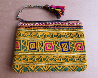 Banjara Wallet, Coin Purse, Handmade, Vintage Boho Purse Tribal Clutch Bag. Free UK Shipping B14