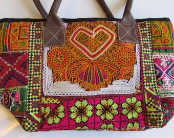 Banjara Bag, Bohemian Bag , Handmade, Vintage Boho Tribal Handbag Bag Heart Design One Of a Kind. Free UK Shipping BN2