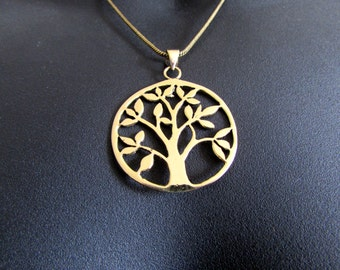 Tree of Life Circle Pendant Necklace Spiritual jewellery Yogi Jewellery  Handmade Free UK delivery BP2