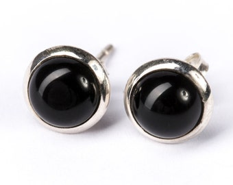 Black Onyx Sterling Silver Stud Earrings Simple Jewellery Dainty Jewellery  Free UK Delivery Gift Boxed