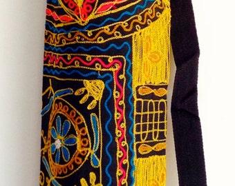Yoga Mat Bag Pilates Mat Bag handmade Indian Elephant Bespoke Black Brown Green Burgundy free UK delivery G3