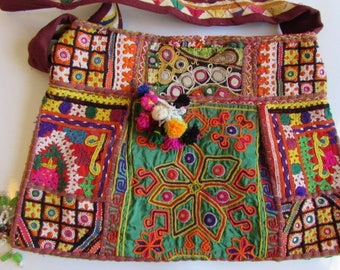 Banjara Bag, Bohemian Bag , Shoulder Bag, Handmade, Vintage Boho Tribal Handbag Bag. Free UK Shipping BN5