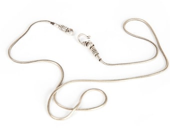"""Sterling Silver Thick Snake Chain 17"""" 18"""" 21"""" 22"""" 24""""Chunky Sterling Silver Chain Free UK Delivery"""