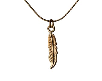 Dainty Feather Necklace 14K Gold Filled Pendant Necklace Simple Jewellery Layering Necklace Jewellery Handmade Free UK delivery GP22