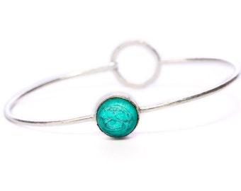 Boho Dainty Bangle Turquoise Gemstone Bracelet Adjustable Gift Boxed + Giftbag + Free UK Delivery WBB9