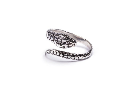Double Headed Adjustable UK Seller 925 Silver Snake Ring in FREE Gift Bag//Box