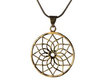 Mandala Circle Lotus Pendant - Necklace Sacred Geometry jewellery Yogi Jewelry Handmade Free UK delivery Gift Boxed + Gift Bag BP2