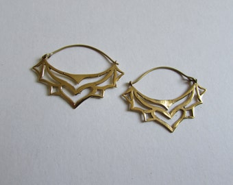 Brass Tribal Earrings, Earrings handmade,Bohemian Earrings with clasp, Nickel Free, Indian Jewellery, Gift boxed,Free UK postage BG1