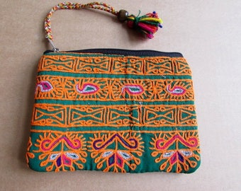 Banjara Wallet, Coin Purse, Handmade, Vintage Boho Purse Tribal Clutch Bag. Free UK Shipping B5
