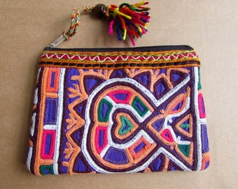 Banjara Wallet, Coin Purse, Handmade, Vintage Boho Purse Tribal Clutch Bag. Free UK Shipping B16