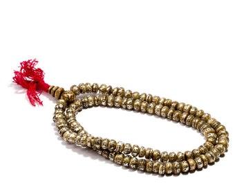 Mala Meditation Beads Fresh Water Pearl 108 Mala beads Om Mane Padme Hum Yoga Jewellery Prayer Beads M3 Buddhist Free UK Delivery + Gift Bag