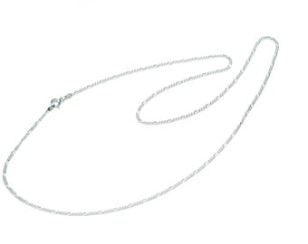 """Sterling Silver Figaro Chain Necklace  18""""  20"""" 21.5"""" 24"""" Strong Chain Free UK Delivery"""
