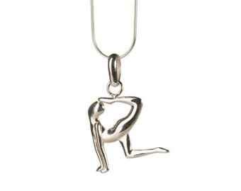 Dancers Pose Sterling Silver Necklace  Yoga Jewellery, Yogi Jewelry, Handmade, Gift box, Free UK Delivery