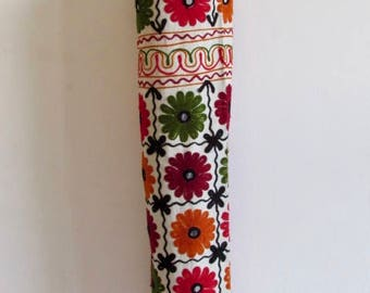 Yoga Mat Bag Pilates Mat Bag handmade multi colour flowers with mirror design free UK delivery (b17) Free Gift Choice