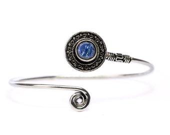 Boho Tribal Bangle Lapis Lazuli Gemstone Bracelet Adjustable Gift Boxed + Giftbag + Free UK Delivery WBB31