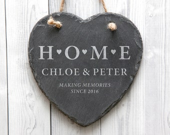 Personalised Home Slate Sign - Room Decoration - Any Engraved Message