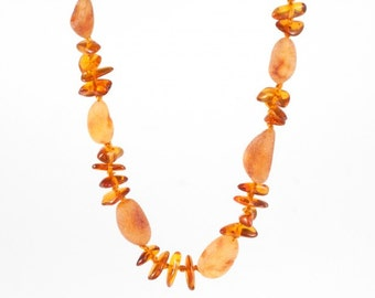 Baltic Natural Stylized Amber Necklace Beads