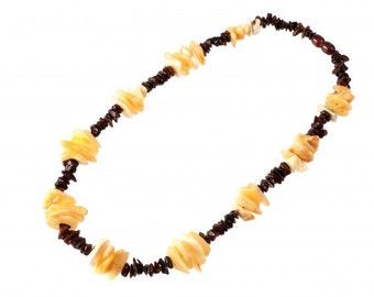 Baltic Stylized Amber Necklace Beads
