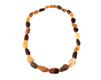 Luxury Variegated Baltic Amber Necklace