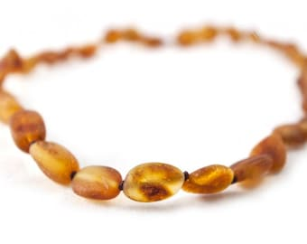 Baby  Amber Lemon Children Amber Beads Teething Necklace