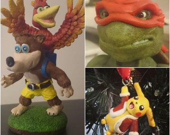 Made to order custom clay sculpture of your choice! Cartoon or video game character?