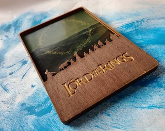 Lord Of The Rings Wooden Magnet