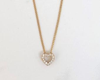 10PCS Brass Micro Pave Cubic Zirconia Charms Heart Pendants For Neckalce 9x8mm