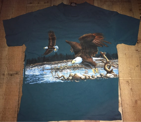 VINTAGE EAGLE wrap around graphic t-shirt
