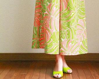 Hawaiian Maxi Pants-Hawaiian Monstera,hawaiian style,HNLS03018-47310