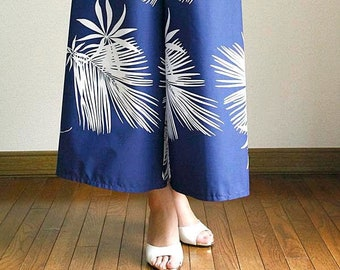 Hawaiian Maxi Pants-Palm leaf,hawaiian style,HNLS03022-47310