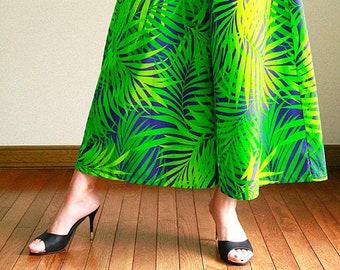 Hawaiian Maxi Pants-Palm leaf jungle,hawaiian style,HNLS03016-47310