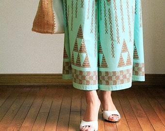Hawaiian Maxi Pants-Hawaiian Tatoo,hawaiian style,HNLS03026-47310