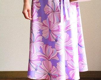 2WAY Hula skirt,Tunic One-piece,Pastel Hibiscus, HNLS03031-53410