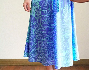 2WAY Hula skirt,Tunic One-piece,Hibiscus gradation, HNLS03030-53410