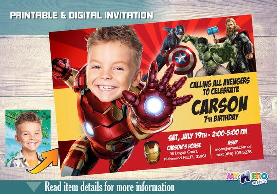 Ironman Invitation Birthday Iron Man Party Ideas Avengers Endgame Invitacion De 097