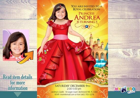 Elena Of Avalor Birthday Invitations Party