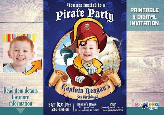 Pirate Birthday Invitations Pirate Invitation With Your Son
