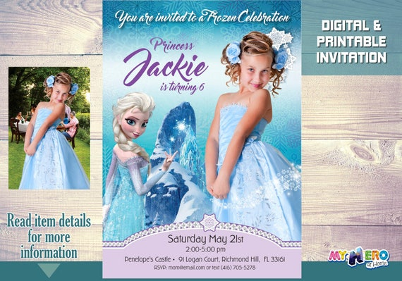 Frozen Birthday Invitation Ideas Your Girl As Princess Elsa In Her 271