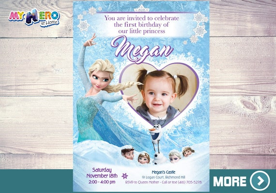 Frozen 1st Birthday Party Ideas Frozen 1st Party Invitation Etsy