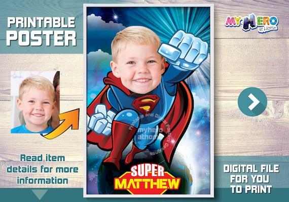 Superman Custom Poster. Superman Poster. Superman decoration ...