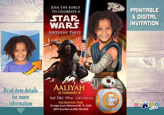 Turn Your Little Girl Into The Awesome Jedi Rey Star Wars Birthday Invitation For Girls Ideas Party 039