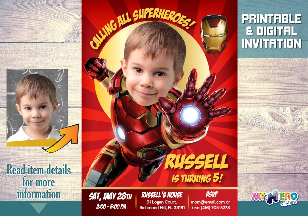 Ironman Birthday Invitation Party Turn Our