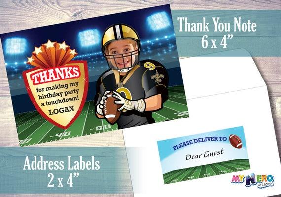 New Orleans Saints Football Birthday Invitations