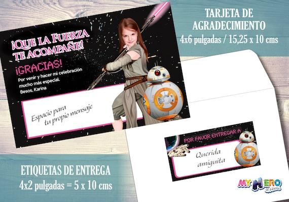 Star Wars Invitación De Cumpleaños Para Niñas Rosa Y Negro Su Niña Como La Jedi Rey Fiesta Jedi Rey Rosa Negro Cumpleaños Jedi Rey 010sp