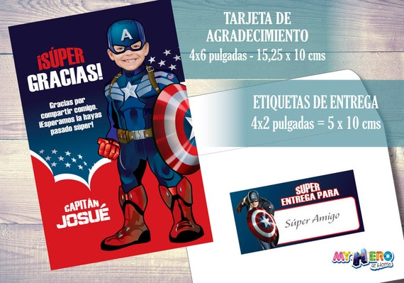 Capitán América Invitación De Cumpleaños Convierta A Su Niño En El Capitán América Cumpleaños Vengadores Ideas 074sp