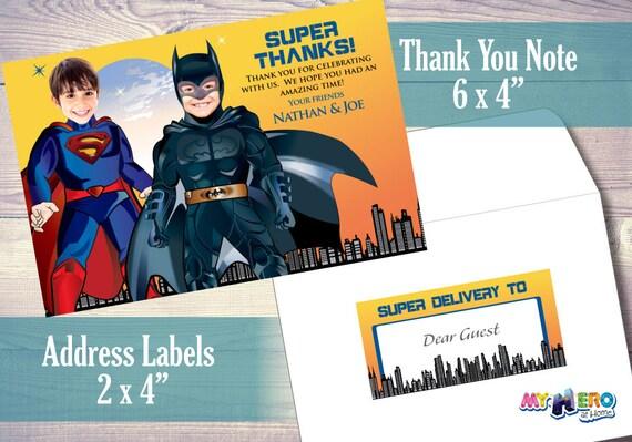 Invitación Superman Y Batman Para Hermanos O Dos Niños Conviértelos En Sus Superheroes Favoritos Para Su Exclusiva Invitación De Cumpleaños