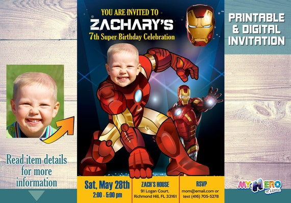 Ironman Birthday Invitations Your Boy As Iron Man For His Invitation Avengers Ideas Party 096